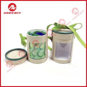Printed Paper Tube with Ribbon
